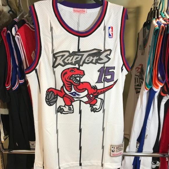 promo code 48972 c7eb4 Vintage Vince Carter Raptors NBA Throwback Jersey